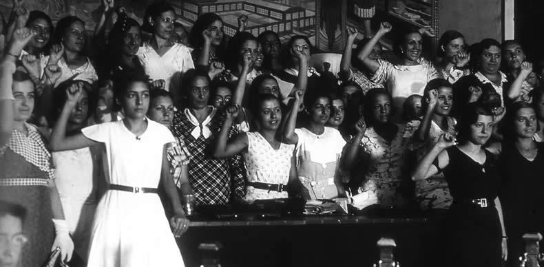 Primer Congreso de mujeres contra el fascismo (Archivo Santos Yubero).