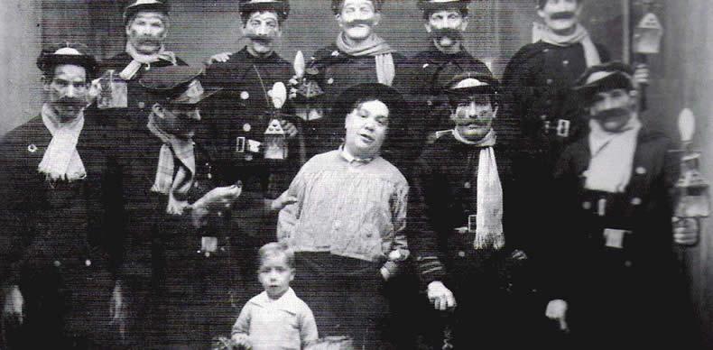 Los ganadores de 1932 del concurso de chirigotas de los carnavales de Cádiz, Los Guardacalles del Norte.